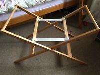 John Lewis Moses Basket Stand - wood