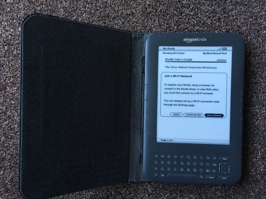 Amazon Kindle Keyboard version and Leather Casein Borrowstounness, FalkirkGumtree - Amazon Kindle, keyboard model with wifi. Full working order also comes with proper amazon black leather case