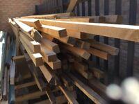 Reclaimed clean unused timber lengths