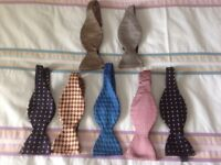 7 Silk Self Tie Bow Ties New