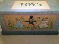 Handpainted wooden Toy Box