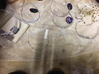 Job lot 7 bridal / formal tiaras / hair bands can be posted anywhere uk