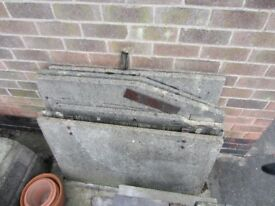 Sectional concrete coal bunker - parts dismantled for transport
