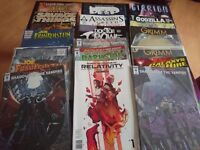 Indie comics lot sub/variant covers. Many first issues. All mint condition. Suitable for resale