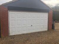 Double up and over garage door