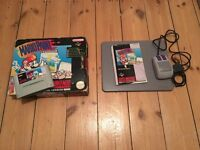 Mario Paint SNES game + mouse boxed