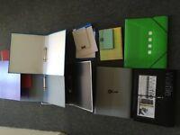A4 documents filing folders bundle