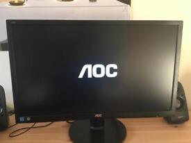 "AOC E2460SH 24"" HD 1080p LED Monitor"
