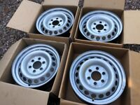 "Genuine 16"" Mercedes Sprinter 907 Steel Wheels Set of Four Spare Great Condition Singles Available"