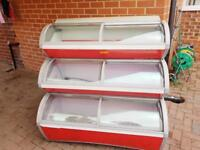 Ice cream freezer 3 tier