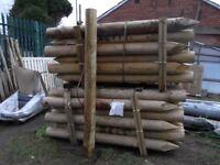 Timber straining posts 150mm-175mmx2.1m