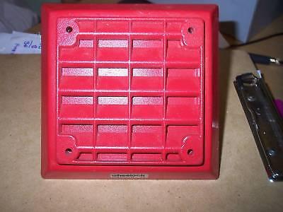 Wheelock Et-1080 Red Speaker Strobe Fire Alarm