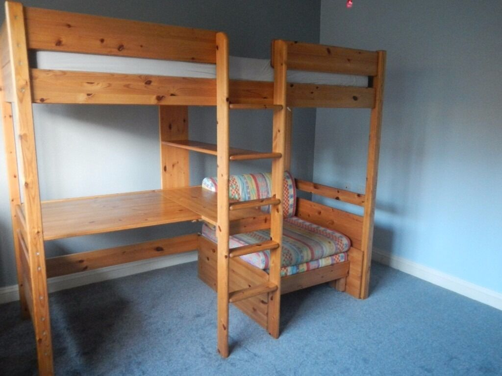 Sold Sold Sold Updated Stompa Bed Solid Pine High Sleeper With
