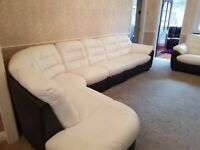 Leather Corner 7 seater & Extra 3 Seater Suite