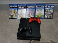 Ps4 console, 2 controllers ,plus 10 games , all in excellent condition