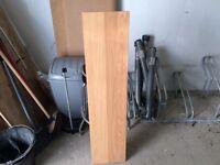 Two solid wooden shelfs