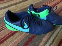 Nike tempo football boots studs size 5.5