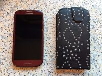 Samsung Galaxy S3 Mobile Phone – Limited Edition Red Colour – Excellent condition