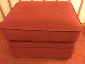 Lovely Marks and Spencer Velour Footstool in Very Good Condition with Fire Safety Labels