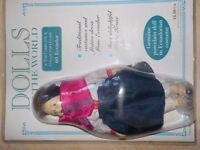 6 Dolls of the World - all Porcelain - 4 are Brand New & 2 are opened - RRP £13 each -Collect PE27