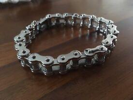 Gents Stainless Steel Biker Bracelet