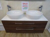 £990 Ex-Display Bathroom Roper Rhodes Scheme Vanity Unit Complete