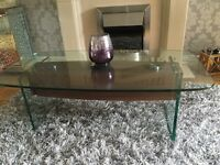 leeks of llantrisant solid glass coffee table and sideboard