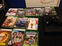 Xbox 360 250GB hard drive with 11 games (includes all wires and a controller 2 battery packs).