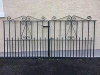 Black Painted Cast Iron Garden Gates