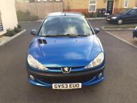 PEUGEOT 206 ENTICE 1.4/GREAT CONDITION/1 YEAR MOT/TIMING BELT CHANGED AT 69000 MILES/£795