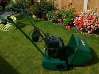 "Qualcast 14"" power driven cylinder lawn mower"