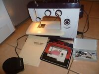 Riccar sewing machine Model 8600 with INSTRUCTION MANUAL & ACCESSORIES