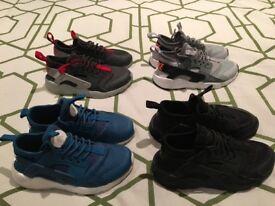 4 pair Nike hauraches ultra kids size 10