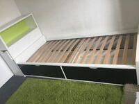 Ikea flaxa single bed and storage