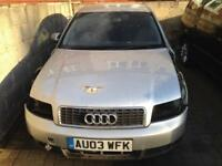 AUDI A4 B6 1.9 TDI 5 SPEED MANUAL 130 BHP BREAKING FULL CAR