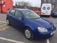 2004 VW GOLF 5 DOOR BLUE 5 SPEED 1.4 12 MONTH MOT