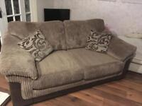 Brown 2 seater DFS Sofa