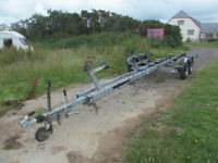 LARGE TWIN AXLE GALVANIZED STRONG BOAT TRAILER 24FT 6 INCHES LONG