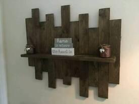 Handmade pallet wood shelf