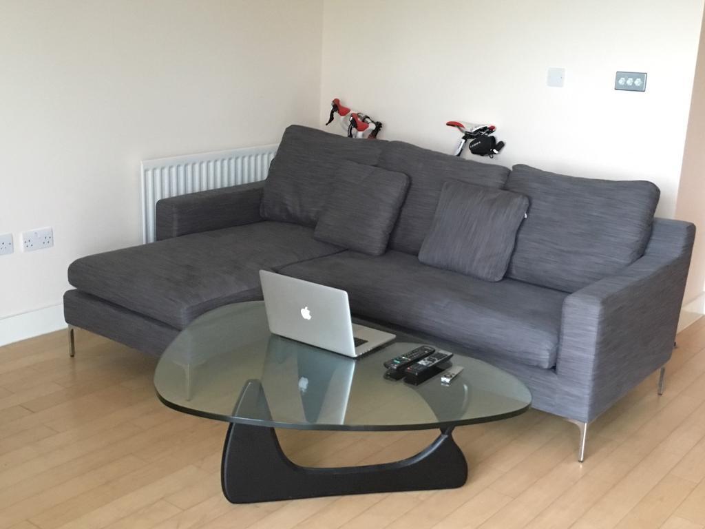 3 Seater Corner Sofa Grey Dwell Oslo