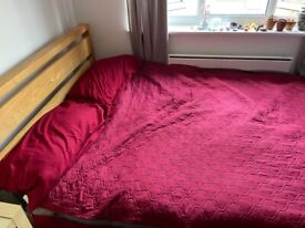 Bensons for Bed double oak bed frame and mattress