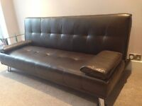 luxury faux leather sofa cum bed - 3 Seater