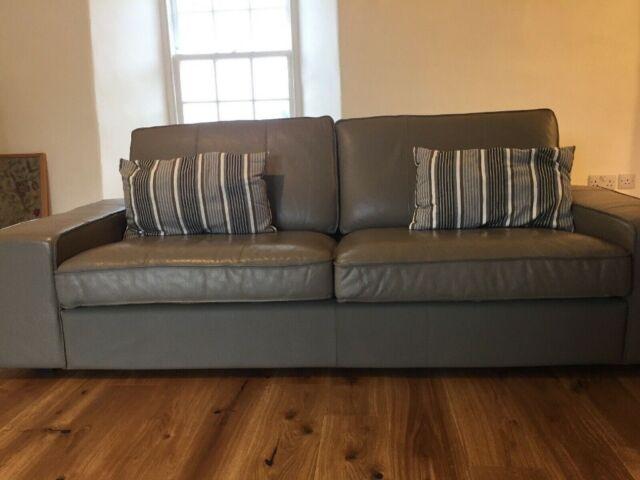 IKEA KIVIK LEATHER SOFA 3 SEATER - MUSHROOM | in Berwick-upon-Tweed,  Northumberland | Gumtree