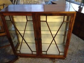 Vintage glass fronted cabinet