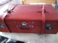 Antigue Leather suitcase with lovely interior