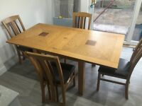 Leftons Oak Dining Table And Chairs