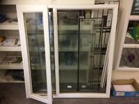 Window, white pvcu, ex display, clear glass, new condition, size 1350 x 1455, £100.