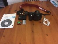 Canon 300D body with battery, memory card and bag