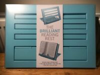 The Brilliant Reading Rest, Book Rest (Duck Egg Blue) NEW