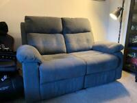 2 Seater Grey Reclining sofa for sale